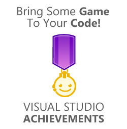 Visual Studio Gaming with XBox like achievements window