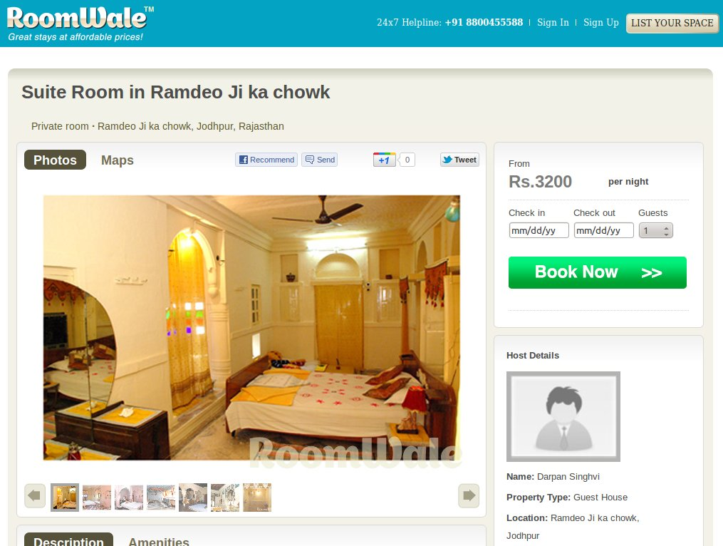 Roomwale - the AirBnB of India