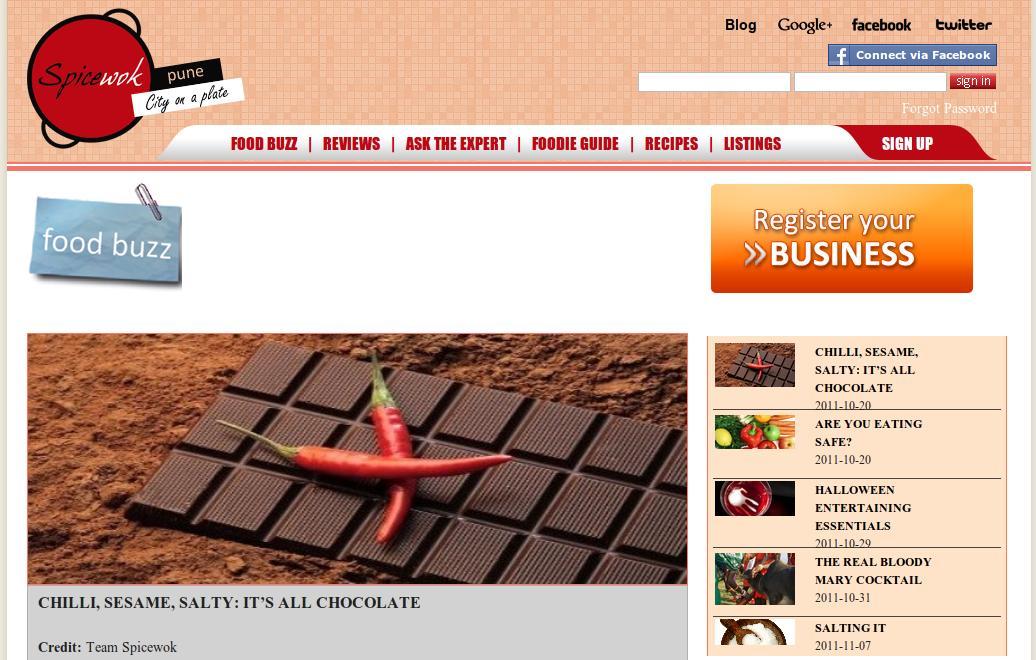Spicewok.com - Pune's one stop lifestyle portal