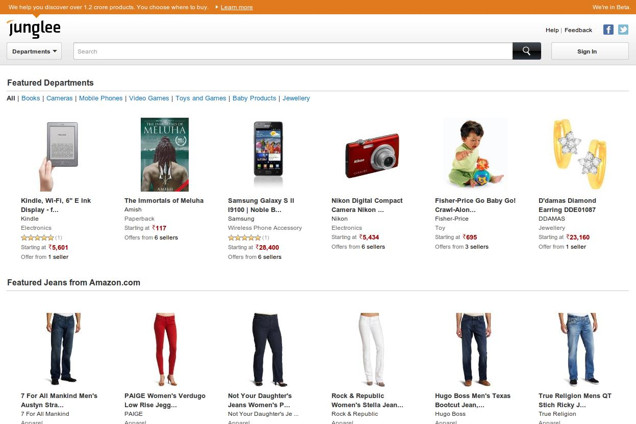 Junglee.com - Amazon's India Avatar