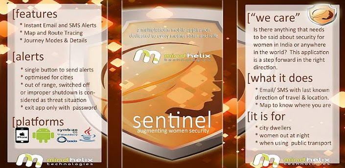 Sentinel Mobile App for Security of Women