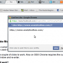Facebook asks you to Confirm Like Page action