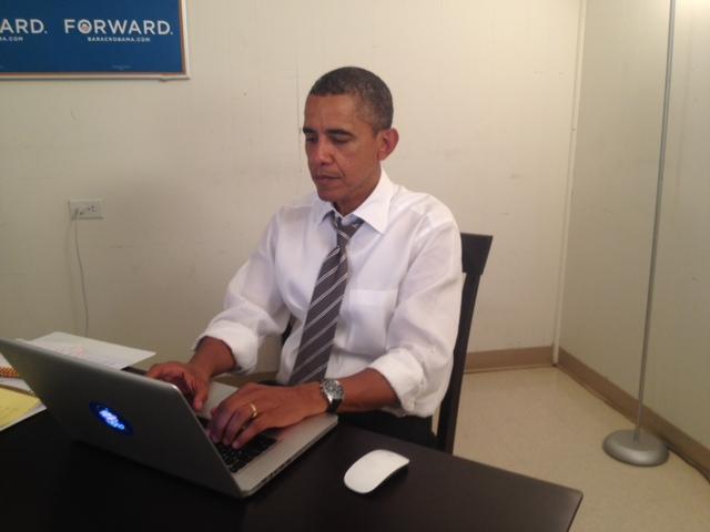 President Barrack Obama on Reddit IAMA Photo