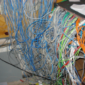 Network Printer Cable Mess