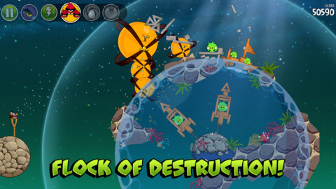 Angry Birds Space Remix iPhone iPad game app
