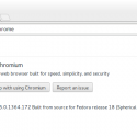 Chromium Browser installed on Fedora 18