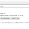 Chromium Browser installed on Fedora 18