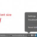 Cinnamon Desktop Panel Font Size