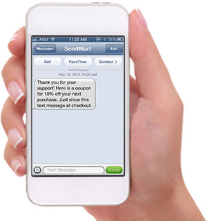 Sendhub App in iPhone