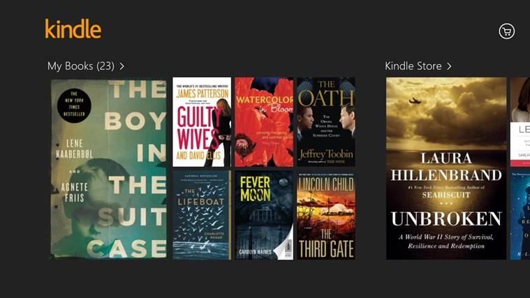 Amazon Kindle Reader Windows 8 ebook reader