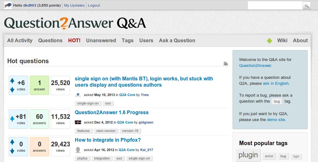 Question2Answer - QnA Site Platform