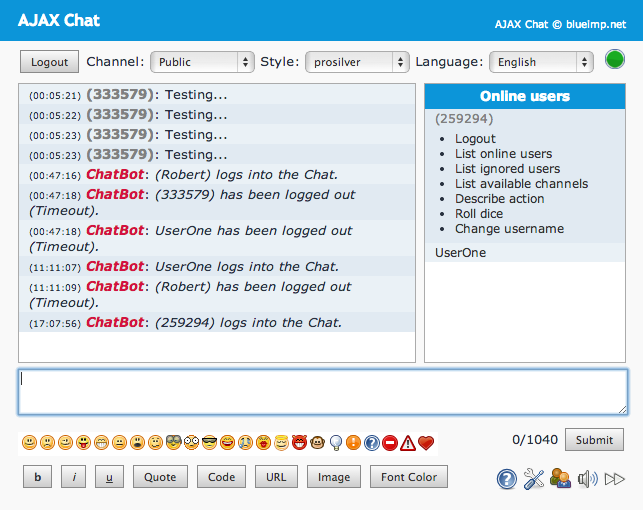 AJAX-Chat Q2A Integration