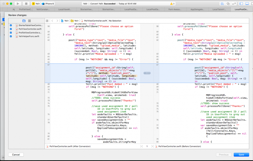 Xcode 7 Convert to latest Swift